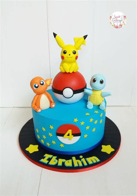 pikachu charmander  squirtle   pokemon cake
