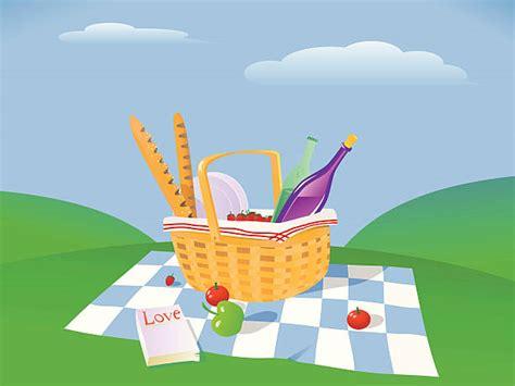 picnic blanket illustrations royalty  vector graphics
