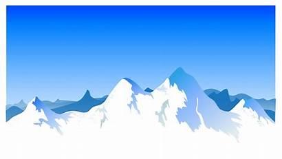 Mountain Vector Background Clipart Range Landscape Mountains