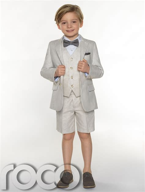 Boys Suits boys Linen suits Page Boy Outfits boys Formal suits with Shorts