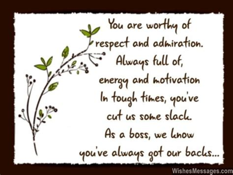 sweet note to say thank you to your you are worthy of respect and admiration always