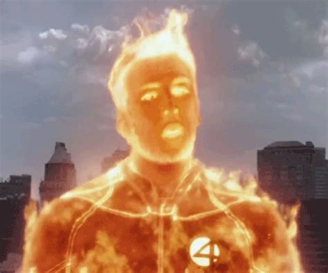 human torch gif find share  giphy