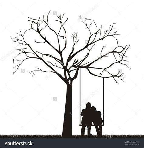 couples swing a tree drawing swing search
