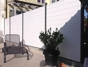 Wei Sichtschutzzaun PVC Kunststoff Wei BASICline
