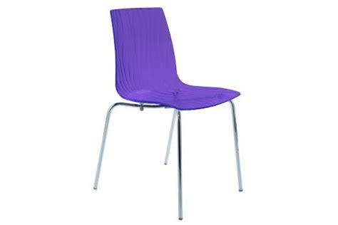 chaise violette chaise design transparente violette olympie chaise