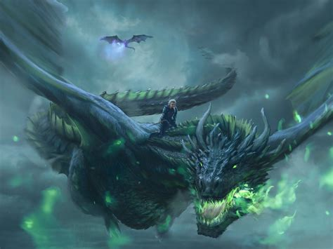 desktop wallpaper daenerys targaryen dragon ride game