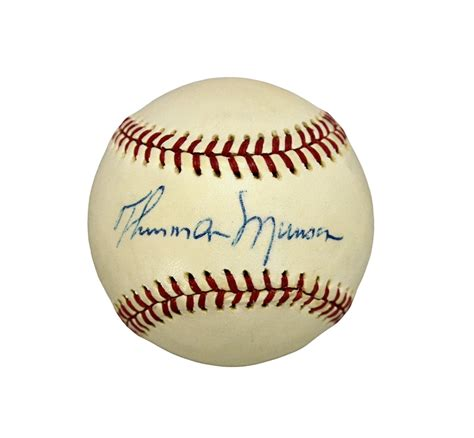 lot detail thurman munson single signed baseball psadna