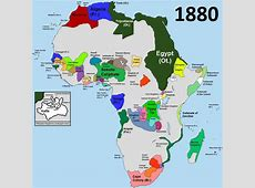 Africa before partition 1880 Vivid Maps