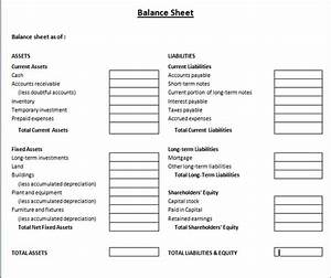 Balance sheet template microsoft word templates for Balance sheet template free