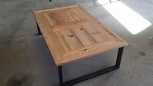 Meuble Design Industriel : table basse acier bois ~ Teatrodelosmanantiales.com Idées de Décoration
