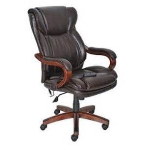 whalen astoria bonded leather mid back chair brown on popscreen