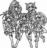 Glitter Force Coloring Pages Doki sketch template
