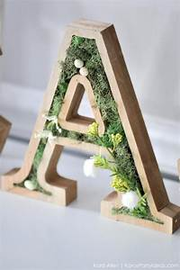 Kara's Party Ideas DIY Spring Moss Easter Letters Kara's