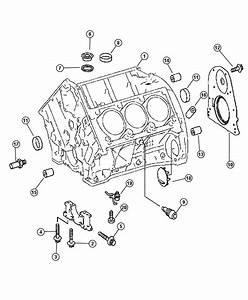 2007 Dodge Sprinter 3500 Retainer  Crankshaft Rear Oil