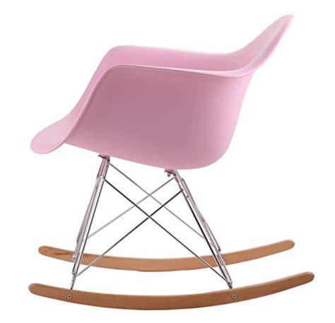 la chaise a bascule hnnhome chaise à bascule rétro d 39 inspiration eames panton