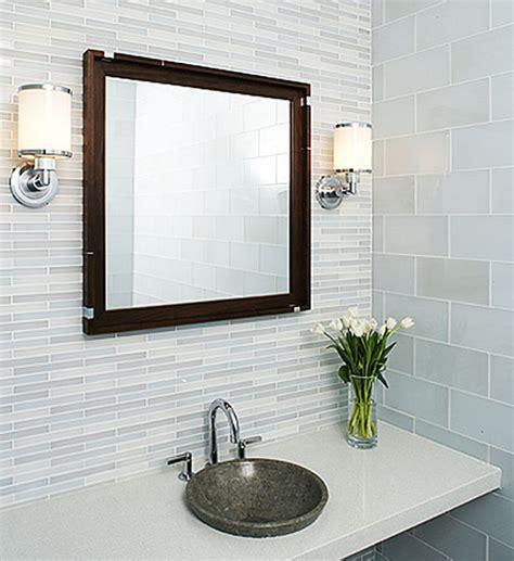 glass tile bathroom ideas tempo glass tile modern bathroom by interstyle