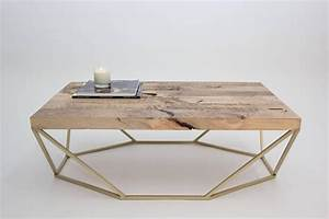 dusk coffee table small in salvaged wood and brushed With brushed brass coffee table
