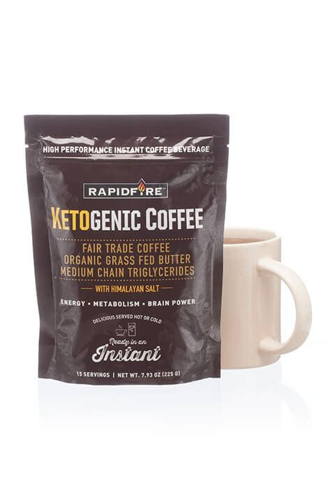Pick up rapid fire ketogenic instant coffee ($12 with coupon/15 servings) at amazon. Rapid Fire Ketogenic Coffee - Weight Loss Coffee - As We Change