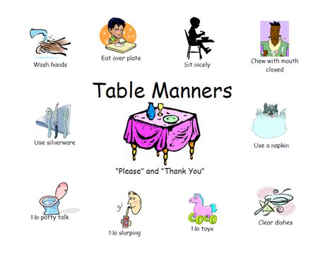 table manners for kids table manners 1000 table manners pinterest table