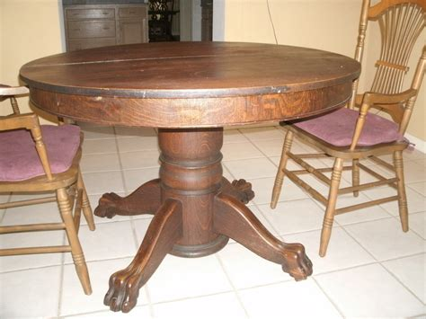 vintage claw foot table value of antique oak tiger claw dining table my antique