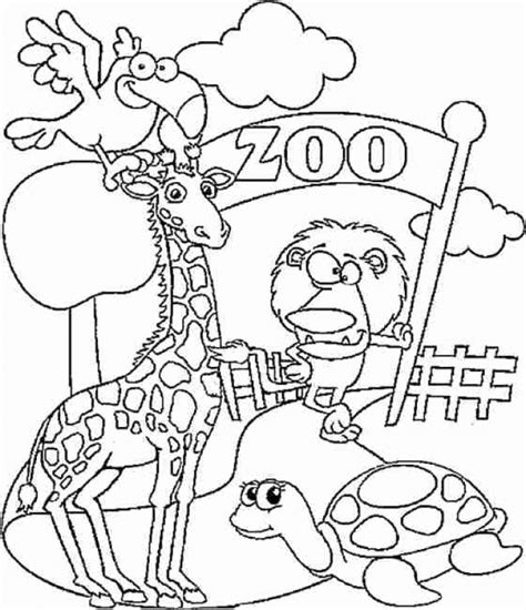 zoo coloring page cozy pages  print sevimlimutfak