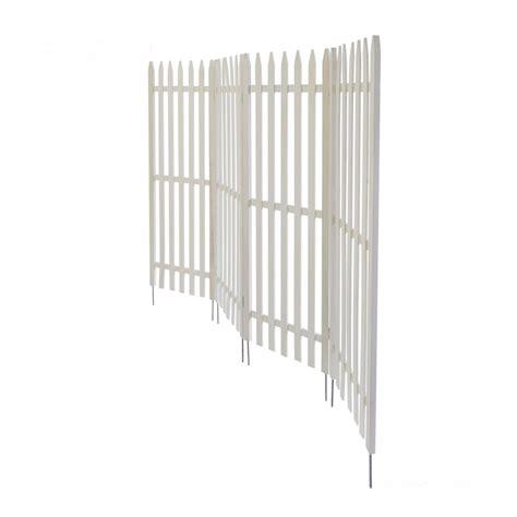 Clu00f4ture de jardin su00e9paration brise vue en bois blanc 120x160cm - mdj06012 - Jardin piscine