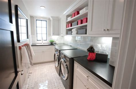 black  white laundry room cabinets homemydesign