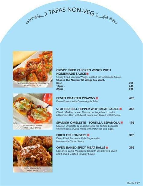 menu  mia bella romantic kitchen hauz khas village