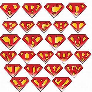 Superman logo with different letters superman and wonder for Superman shirt with different letters