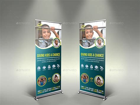 kids charity signage roll  banner template  owpictures