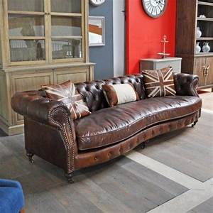 canape chesterfield british dialma brown interiors With canapé chesterfield cuir vintage