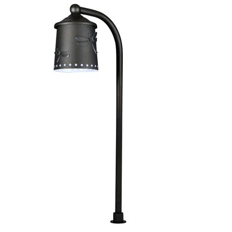 integrated led outdoor lighting hton bay low voltage black outdoor integrated led