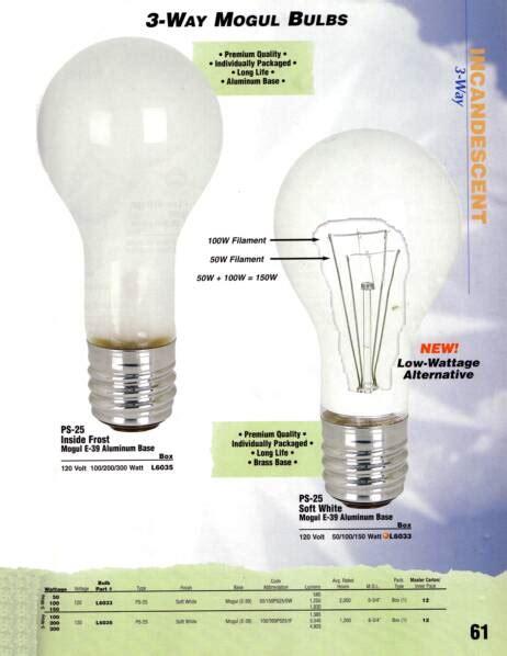 3 way mogul bulbs