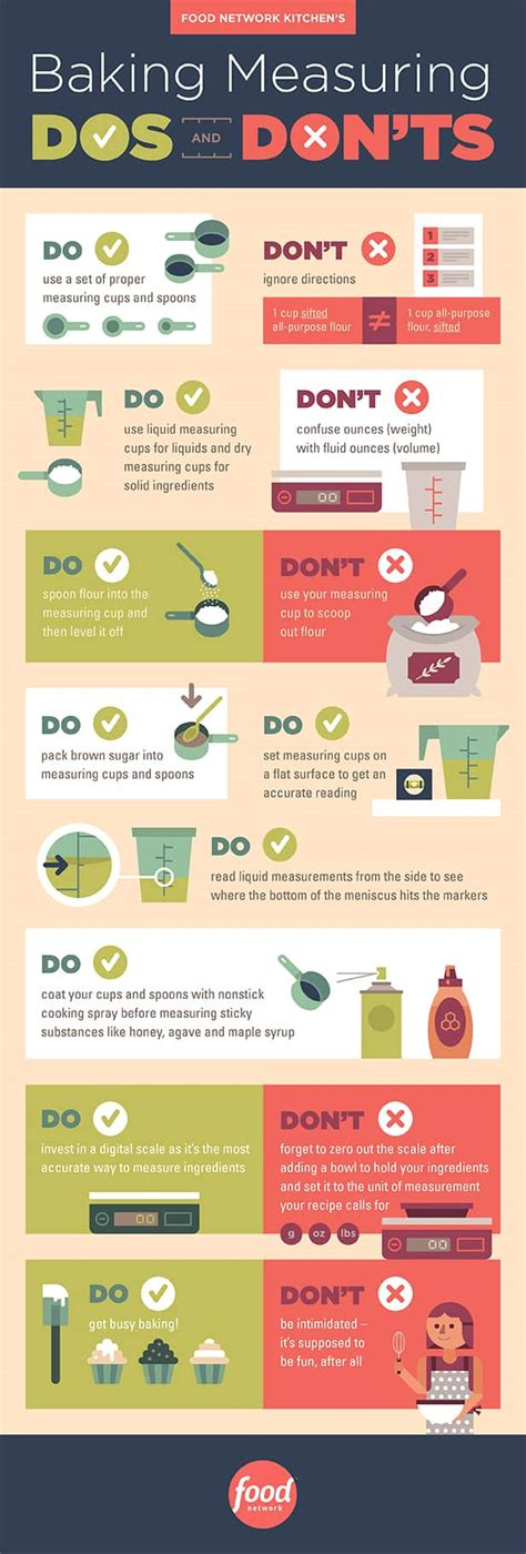 dos  donts  baking   pro infographic daily