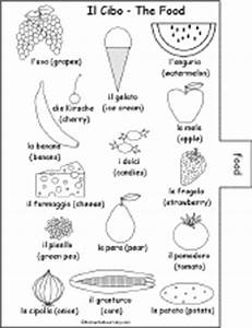 Italian Word Book to Print: Food Page - EnchantedLearning.com