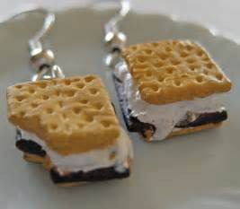surgical stainless steel earrings smores food earrings miniature food jewelry