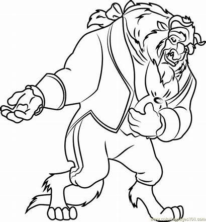 Coloring Pages Beast Beauty Coloringpages101 Princess Pdf