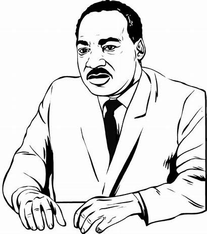 Luther Martin King Coloring Jr Clipart Mlk