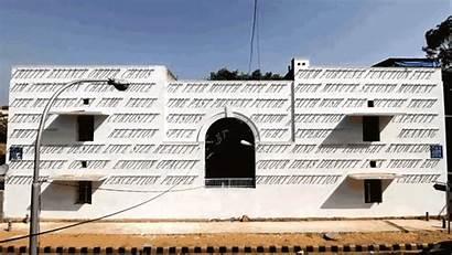 Facade Building Dynamic Sun Mural Daku Mounts
