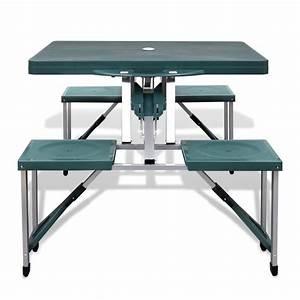 Campingtisch Mit Stühlen : klappbares campingtisch set aluminium mit 4 st hlen extra leicht gr n ~ Eleganceandgraceweddings.com Haus und Dekorationen
