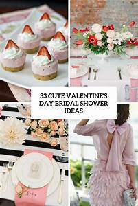 33 cute valentines day bridal shower ideas weddingomania With cute wedding shower ideas