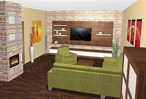 Návrhy interiérů obývacích pokojů