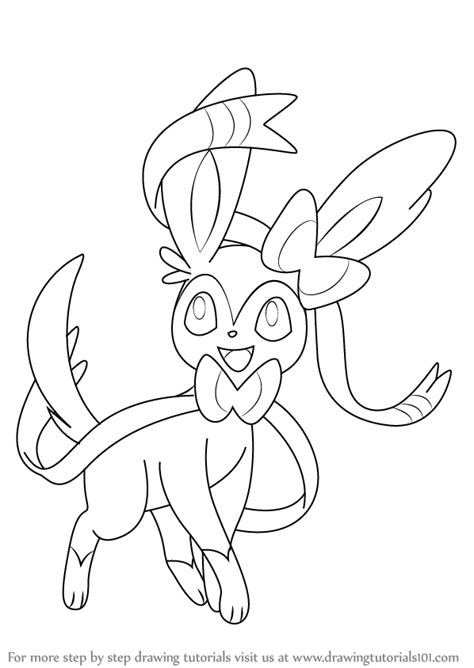 Learn How to Draw Sylveon from Pokemon (Pokemon) Step by