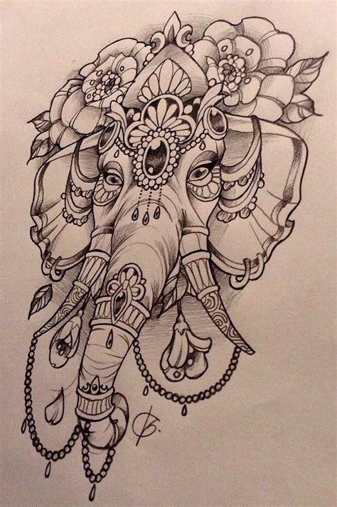 tatouage elephant ganesh