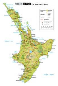 New Zealand North Island Map
