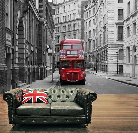 red london city bus photo wallpaper wall mural xcm