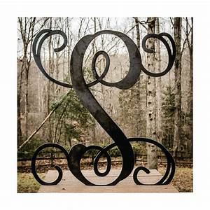 Large metal letter 22 door hanger front door monogram for Metal monogram letters for front door