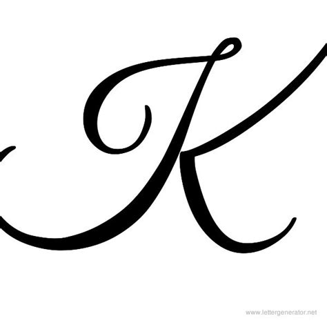 Letter Capital K Fancy Calligraphy Letter K Bilbo A Z