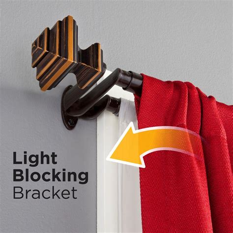 Eclipse Room Darkening Curtain Rod by Eclipse Stacey 66 In 120 In Telescoping 3 4 In Room