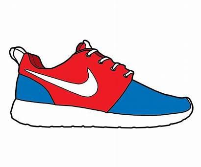 Drawing Nike Shoes Shoe Roshe Run Pre